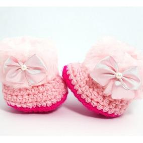 Sapatinhos De Crochê Para Bebê Pronta Entrega - Roupas de Bebê no ... 2dceefcb298
