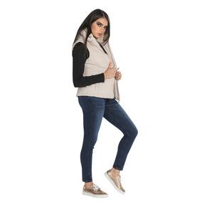 Chaleco Dama Peluche Largo Formal Vestir Casual Bobois