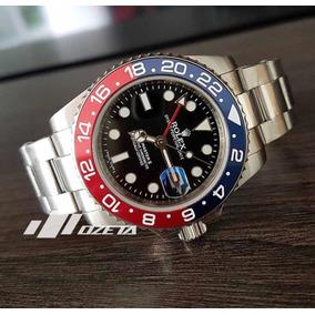 5fb193800b9 Relogio Rolex Pepsi Azul E Vermelho Gmt Master 2 Automatico