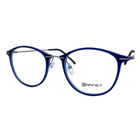 Armação Garnet Óculos Lente Para Grau Azul Fibra Haste Aço 2581132b29