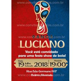 Convite De Aniversario Copa Do Mundo 2018