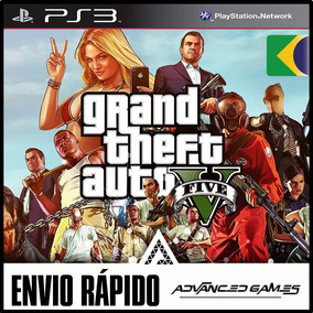 Gta 5 Grand Theft Auto V - Jogos Ps3 Midia Digital