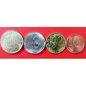 Argentina Set X 4 Monedas 1, 2, 5 Y 10 Pesos 2018 Unc