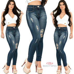f888a93bc Calça Jeans Feminina Destroyed Biotipo Levanta Bumbum Lycra