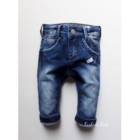 Calça Jeans Bebê Menino Estilosa 2 A 12 Meses.