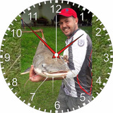 Pesca Esportiva -relógio De Parede - Foto Marcante - 24cm e8f7607d356