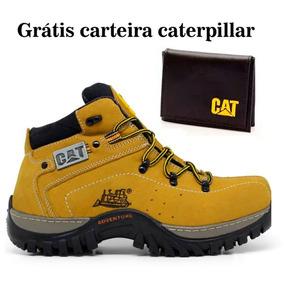 Kit Bota Adventure Caterpillar + Palmilha Gel Carteira Cint
