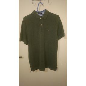 b442f66411a Camisa Polo Tommy Hilfiger Verde Musgo - Calçados