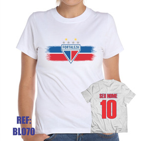 8ff94a73c9 Carregando zoom. Camiseta Baby Look Fortaleza Futebol Personalizada Com Nome