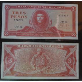 Cédula De 3 Pesos Cubano 1988 Che Guevara