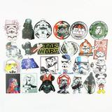 Decoración Star Wars 25 Stickers Diferentes Calcomanias