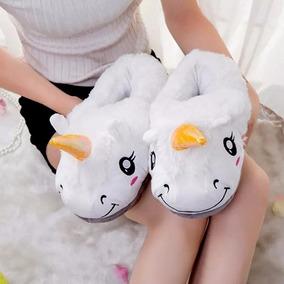 Pantufa De Unicornio Fechada - Pantufas para Feminino no Mercado ... 27e933f023b99