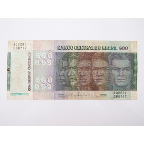 Cédula Antiga C152 Nota 500 Cruzeiros Bc Raças 1980 Lote 105