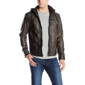 Chamarra X-ray Men Slim Fit Faux Leather Moto Jacket