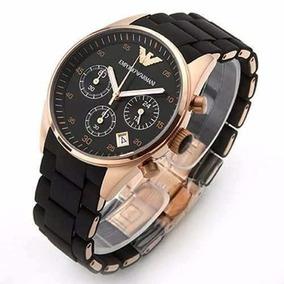 Relógio Emporio Armani Ar5905 43mm Ouro Rose Ar 5905 Preto ... b2d1862ab6