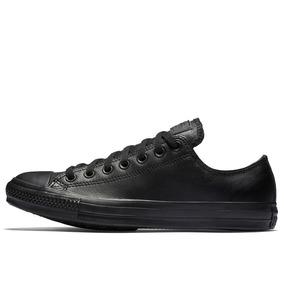 e1f292cb521 Zapatillas Converse Negras De Cuero - Ropa y Accesorios en Mercado ...