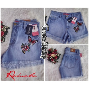 Shorts Jeans Revanche Curto Sem Lycra Tam 42 12x Sem Juros