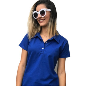 Promoção Kit 5 Camisa Polo Feminina Lisa Malha Em Cores