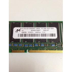 Memoria Ram Pc100 - 222 - 620. 256mb 100mhz