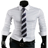 Camisa Social Casual Masculina Slim Fit Novos Modelos E Cor
