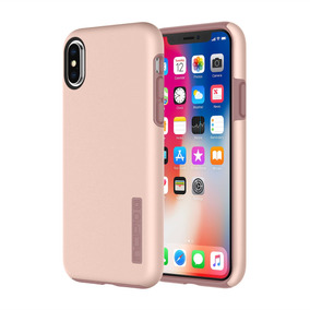 Funda Incipio Dualpro Iphone X Iridescent Dorado Rosa