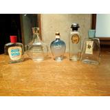 Lote 5 Frascos Perfumes Antiguo Aqua Velva Rochas Nina Ricci