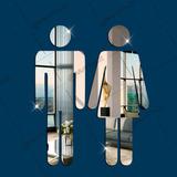 Espelho Decorativo Acrílico Casal Wc Banheiro/vestiário 25cm