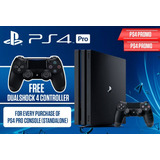 Ps4 Pro 1tb Sony Playstation 4 Con 1 Control Extra/ 2 Juegos