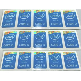 Calcomania Sticker Pegatina Procesador Intel Core I3