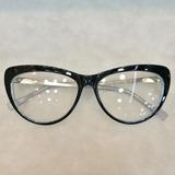 08f7dfed3ee29 Óculos Armação De Grau Gatinho Geek Acetato Metal + Brinde