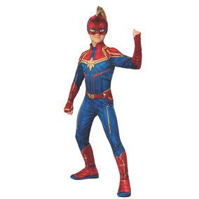 Disfraz Cosplay Capitana Marvel Super Heroe Rubies L