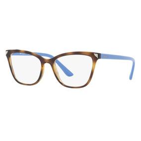 Armação Oculos Grau Vogue Vo5206 W656 53mm Havana Azul Brilh 95fe01d1eb