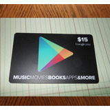 Tarjeta Google Play $15 Región Usa - Email Delivery