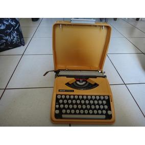Máquina De Escrever Olivetti Letera 82 Amarela