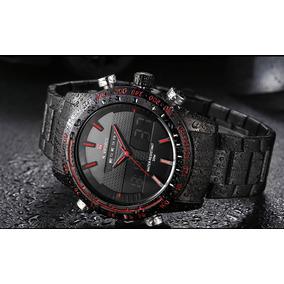 Relógio Masculino Esportivo Militar Preto Naviforce F.grátis