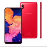 Samsung Galaxy A10 Vermelho, Com Tela Infinita De 6,2, 4g,