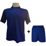 Uniforme 12 Camisas City Mar roy + 12 Calções Madrid Royal bb38b24a78a92