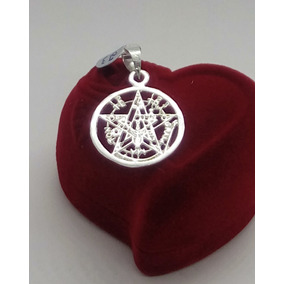 Dije Tetragramaton Pentagrama Plata Ley .925 Unisex 17 Mm