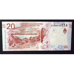 Argentina Billete 20 Pesos 2017 Unc Guanaco Reposicion R