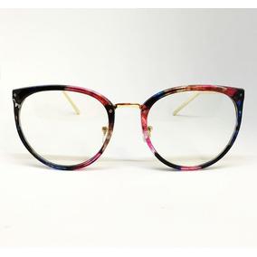 Armação De Luxo Haste De Metal Para Óculos De Grau - Floral ed80e63dcc