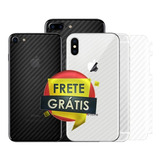Pelicula Traseira Carbono iPhone 6 6s 7 8 Plus X Xs Max Xr