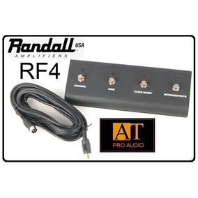Pedal Footswitch 4 Botões Randall Rf4 C/ Cabo Midi 7 Pinos