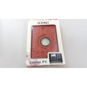 Capa Case Giratório Couro Vermelho Tablet P6200 12x18,8 Lelo