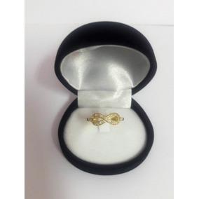 Anillo De Compromiso Infinito Oro 18k Y Diamantes