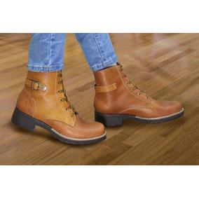 fda2349a5eb0a Bota Botines Zapato Moda Mujer Cuero Natural Invierno Nuevo