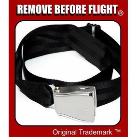 Cinturón Unisex Con Hebilla De Avión - Remove Before Flight