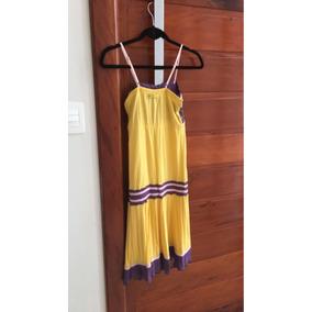 Vestido Amarelo De Viscose