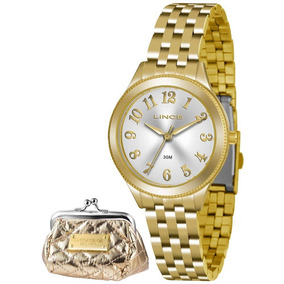 3b5591fc964 Relógio Lince Feminino Dourado - Lrg4369l K182 + Porta Moeda