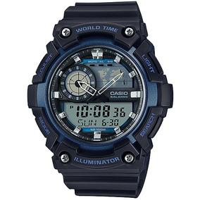 88d6c606546 Relógio Casio Standard Masculino World Time Aeq-200w-2avdf