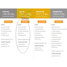 Directv Hd - Paquete Oro (220 Canales) Pago Mensual